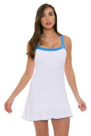 Sofibella Women's Triumph Flounce Cami White Tennis Dress