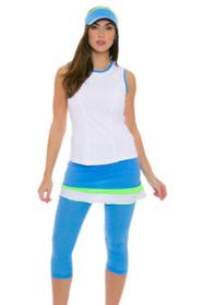 Sofibella Women's Triumph Abaza Sky Blue Tennis Skirt Legging