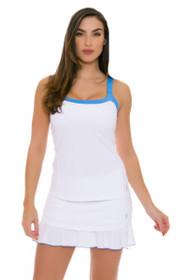 "Sofibella Women's Triumph Layered Flounce 14"" White Tennis Skirt"