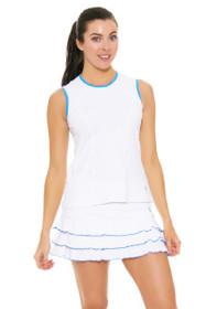 "Sofibella Women's Triumph Ruffled Hem 13"" White Tennis Skirt"