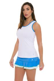 "Sofibella Women's Triumph Sky Blue Flounce 12"" Tennis Skirt"