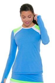 Sofibella Women's Triumph Sky Blue Classic Long Sleeve