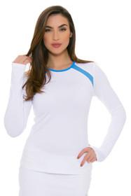 Sofibella Women's Triumph White Classic Long Sleeve