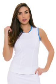 Sofibella Women's Triumph Classic White Tennis Sleeveless
