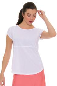 BPassionit Women's Spring Fling Full Vent Princess Tennis Cap Sleeve Shirt