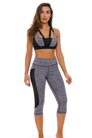 TLF Women's Spring Roam Stone Heather Workout Capri