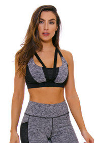 TLF Women's Spring Devant Stone Heather Sports Bra