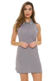 Lole Women's Spring Adisa White Stripe Golf Dress