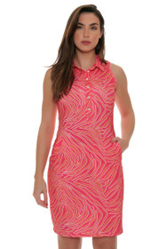 Tee 2 Sea Women's Pink Zebralicious Print Golf Dress