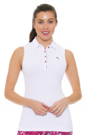 Chervo Women's Tropical Emotion Andrate White Golf Sleeveless