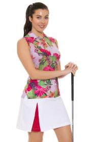 Chervo Women's Tropical Emotion Josefa White Golf Skort