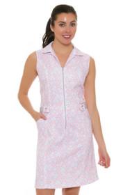 Cracked Wheat Women's Urban Chic Vonita Puzzle Print Golf Dress