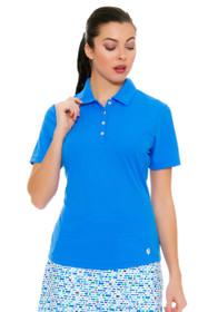 GGBlue Women's Turks & Caicos Tina Carribean Golf Polo Shirt