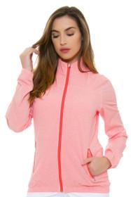 Adidas Women's Essentials Easy Coral Full Zip Wind Jacket