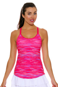 Solfire Women's Speed Double Up Electric Pink Tennis Tank