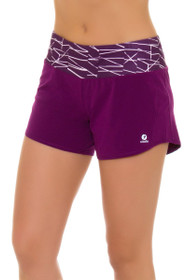 Oiselle Women's Roga Plum Sticks Print Running Shorts