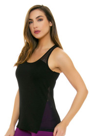 Oiselle Women's Smash Black Running Tank