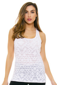 Oiselle Women's Heather Grid  Frost Workout Layering Tank