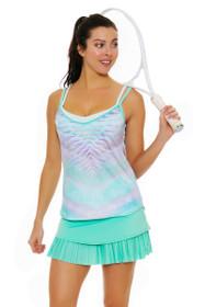 Lucky In Love Women's Desert Shore Long Drop Pleat Lagoon Tennis Skirt