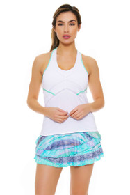 Lucky In Love Women's Desert Shore Wild Rally Pleat Tier Lagoon Tennis Skirt