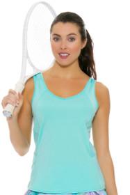 Lucky In Love Women's Desert Shore Jane Sweet Lagoon Tennis Tank
