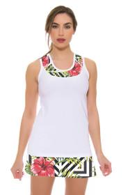 Allie Burke Women's Hibiscus Geo Print Tennis Skirt