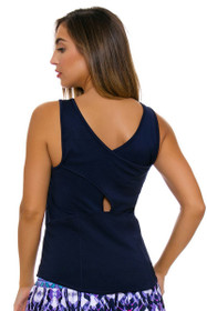 Lucky In Love Women's Core Tops Jane Sweet Navy Tennis Tank