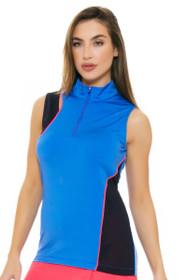 EP Pro NY Women's Beyond Blue Color Block Golf Sleeveless Shirt