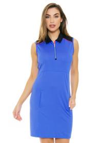 EP Pro NY Women's Beyond Blue Contrast Blocked Golf Dress
