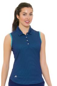 Adidas Women's Micro Dot Golf Sleeveless Polo Shirt