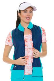 Adidas Women's Energy Blue Technical Lightweight Wind Vest