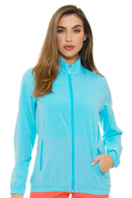 Adidas Women's Essentials Blue Glow Full Zip Wind Jacket