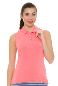 Adidas Women's Essentials Easy Coral Cotton Hand Golf Sleeveless Shirt