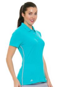 Adidas Women's Energy Blue Rangewear Golf Short Sleeve Polo Shirt