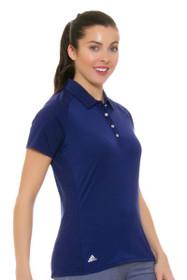 Adidas Women's Night Sky Climacool Aeroknit Circle Golf Short Sleeve Polo Shirt