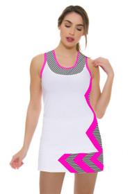 Allie Burke Women's Stripe Pink Chevron Print Skirt