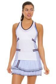 Lucky In Love Women's Vantage Pleat Tier Ice Tennis Skirt
