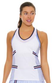 Lucky In Love Women's Vantage V-Neck Ice Tennis Tank