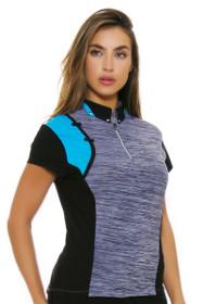 Jamie Sadock Women's Aquarius Print Golf Short Sleeve Polo