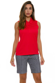 EP Pro NY Women's Poppy Fields Gingham Print Golf Short