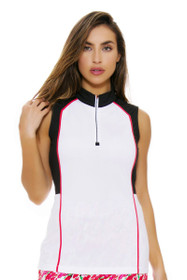 EP Pro NY Women's Poppy Fields Color Blocked Golf Sleeveless Shirt
