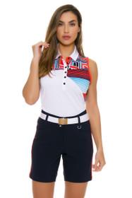 GGBlue Women's Olympic Era Bunker Navy Golf Shorts