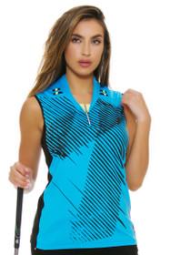 Jamie Sadock Women's Aquarius Bitmap Print Golf Sleeveless