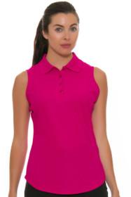 Greg Norman Women's Essentials Ruby Protek Micro Pique Golf Sleeveless Shirt