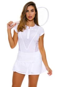 Stella McCartney Women's Barricade Legend White Tennis Skirt