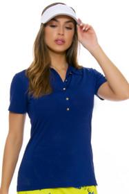 EP Pro NY Women's Palmetto Perforated Chevron Golf Short Sleeve Polo