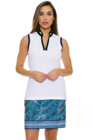 EP Pro NY Women's Palmetto Tropical Palm Print Golf Skort