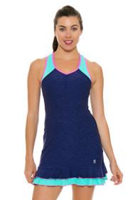 Sofibella Women's Nautical Navy V-Neck Tennis Dress