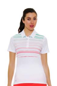 Adidas Women's Merch Stripe Golf Short Sleeve Polo