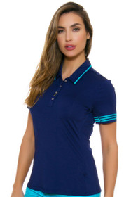 Adidas Women's Night Sky 3-Stripes Golf Short Sleeve Polo